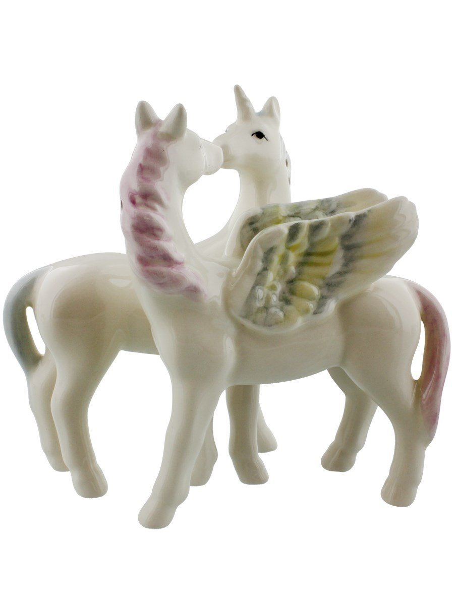 Unicorn and Pegasus Attractives Salt and Pepper Shakers by Pacific Giftware