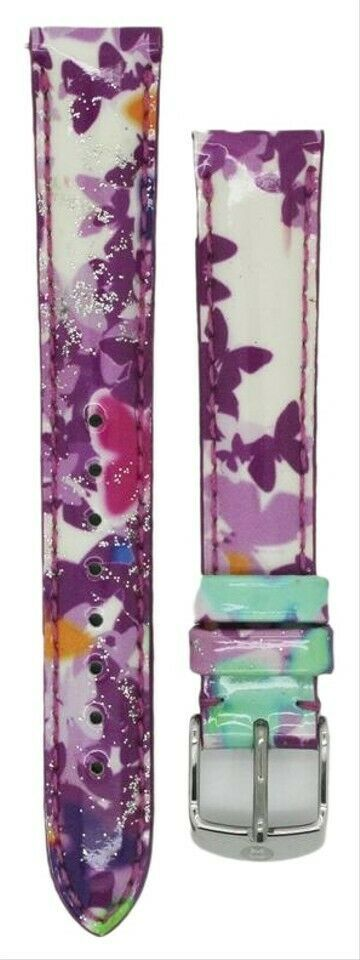 Primary image for Michele 16mm Butterfly Multi Patent Strap MS16AA350884 Deco 16 Lilou Cloette