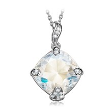 Kite s925 Sterling Silver Necklace Hollow Out Pendant Crystal Jewelry f - $104.19