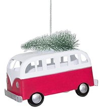 Gnz Van Camper With Tree Metal Christmas Ornament - £7.58 GBP