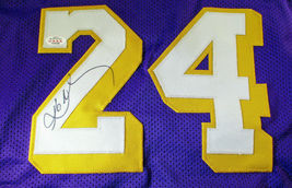 KOBE BRYANT / NBA HALL OF FAME / AUTOGRAPHED LAKERS PURPLE CUSTOM JERSEY / COA image 3