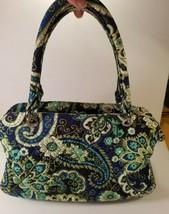 Vera Bradley Blue Green Paisley Quilted Handbag - $15.85