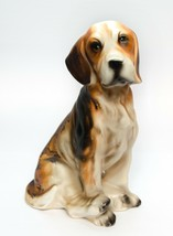 Cocker Spaniel Puppy Dog Ceramic Brown Figurine Med Size Vintage  - $11.87