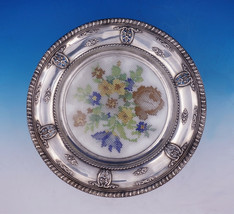 Rose Point by Wallace Sterling Silver Plate w/Glass & Needlepoint Pattern #3134 - $233.10