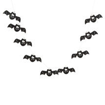6ft. Bat Garland HALLOWEEN haunted house DECORATION spooky fun party - $6.49
