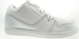 NIKE JORDAN 1 FLIGHT 2 LOW BP YOUTH(KIDS) WHITE SHOES Size 2.5Y, #654953... - $30.79