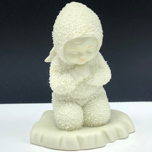 DEPARTMENT 56 SNOWBABIES figurine kneeling praying angel wings sculpture statue - $17.82