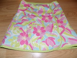 Size 9 Gymboree Palm Springs Reversible Wrap Skirt Flamingos Tropical Fl... - $16.00