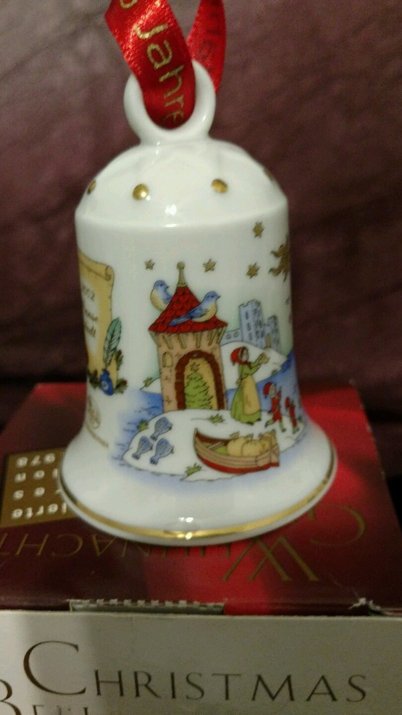 Christmas Bell Hutschenreuther  Hanseatic Town Ole Winter 25 years