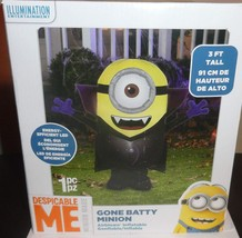 GEMMY AIRBLOWN INFLATABLE GONE BATTY MINION VAMPIRE HALLOWEEN YARD DECOR... - $54.51