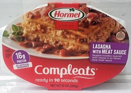 Hormel Compleats Lasagna with Meat Sauce Microwave Dinner 10 oz - $4.88