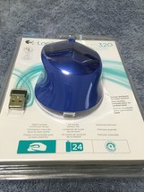 NEW Logitech M320 910-004353 Wireless Mouse Optical Radio Frequency Blue USB