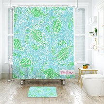 Flower Lilly Get Cracking 03 Shower Curtain Waterproof & Bath Mat For Bathroom - $15.30+