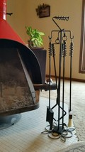 "Deluxe Wood Stove/Fireplace Set-27"", Poker/Tongs/Ember Rake/Shovel with ... - $247.50"