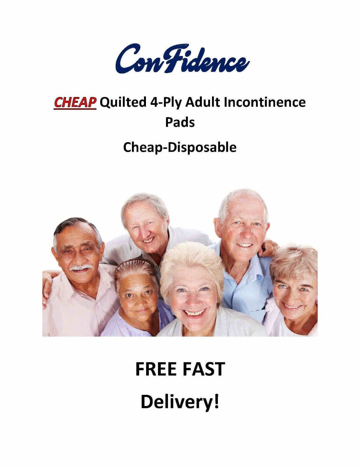 "Primary image for 300-17x24"" CHEAP Extra Absorbent Quilted ConFidence  4-Ply Incontinence Pads"