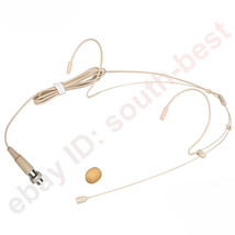 Beige Headset Microphone For MiPro Wireless Belpack Transmitter - 4pin M... - $28.59