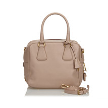 Authentic Prada Brown Leather Saffiano Satchel Italy - $631.29