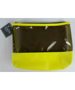 Ulta Beauty Bright Yellow and Clear  Large Makeup Cosmetic Bag NWT - $6.99