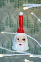 Crate & Barrel Ceramic Santa Bell Ornament -NWT- Ring In The Holiday Season! - $15.95