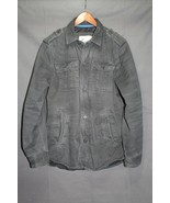 NEW Men's AE Military Field Coat Lined Shirt Jacket Twill Grey M - $99.95 - $32.94
