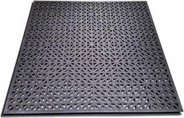 NEW Black PlastiPro-Loc Heavy Duty Perforated Garage Flooring Tiles Pack of 18 image 1