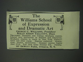 1930 The Williams School of Expression and Dramatic Art Advertisement - $14.99