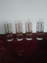 "Lot of 4 - Southern Comfort Shot Glass, Gold Moon Pattern, 4"" Tall - $28.04"