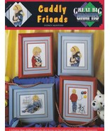 Cuddly Friends, Great Big Graphs Cross Stitch Pattern Booklet VCL-20024 - $3.95