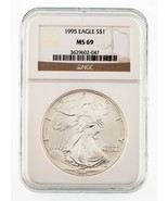 1995 Silver American Eagle Graded by NGC as MS-69 - $74.07