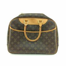 93357 Louis Vuitton Brown Monogram Canvas Leather Deauville Satchel Hand... - $472.07