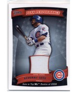2010 Topps Peak Performance Relics #PPR-GSO Geovany Soto Cubs (Series 1)... - $7.50