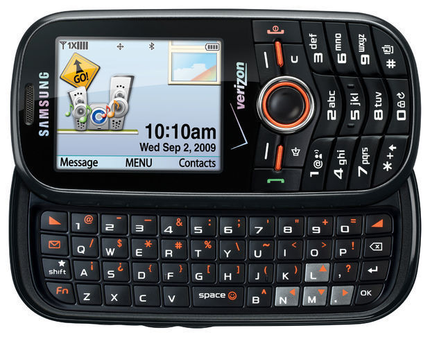 New Samsung SCH-U460 Intensity 2 Black(Verizon)(Page Plus) QWERTY Cellular Phone