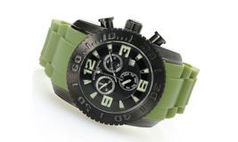Swiss Legend 46mm Commander Swiss Quartz Chronograph Green Strap Watch - $138.95
