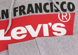Levi's Men's Pullover Logo Graphic Hoodie San Francisco Red Tab Cotton Sweater image 4