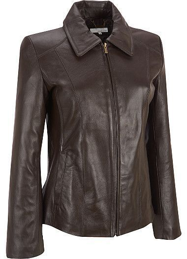WOMEN BIKER MOTORCYCLE CASUAL SLIM FIT RIDER REAL GENUINE  LEATHER JACKET-A16