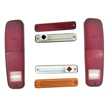 FORD 73-79 F-150 F150 F250 Truck 78-79 Bronco 6pc Tail Light and Side Fender Kit image 2