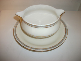 Theodore Haviland Ny Sale Gravy Boat W/ATTACHED Under Plate Greek Key Made In Us - $29.99