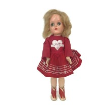 "Vintage 1950s Ideal Mary Hartline Toni Doll Majorette Dress Boots P-91 15""  - $74.76"
