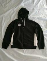 Umbro Men's Long Sleeve Black White Full Zip Hoodie Quilted Fleece Sweat... - $32.71