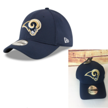 New Era 39Thirty Nfl Los Angeles Rams Navy Gold Si Tech Stretch Fit M/L Men Hat - $27.87