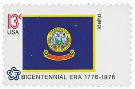 1976 13c Idaho State Flag, Bicentennial Era Scott 1675 Mint F/VF NH - $1.29