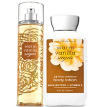 Bath & Body Works Warm Vanilla Sugar Body Lotion + Fine Fragrance Mist Duo Set - $27.39