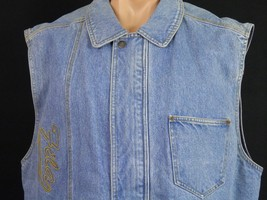 Fila Sleeveless Denim Jacket  Blue Stonewashed Mens XL Excellent Conditi... - $37.04