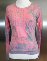 Women's Silky Top Japanese Inspired with Kanji, Lady, Floral EUC Rose Co... - $7.91