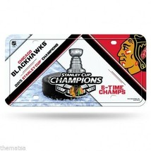Chicago Blackhawks Nhl 2015 Stanley Cup Champions Usa Made License Plate - $27.07