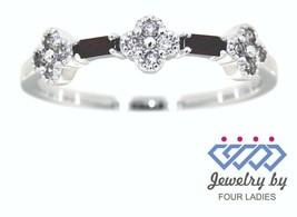 Rubí Piedra de Nacimiento 14k Oro Blanco 0.14ct Diamante Natural Diseñador - $213.66