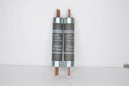 Lot of 2 NEW Gould Shawmut CRS80 80 Amp Fuses Time Delay Type D 600V AC - $24.99