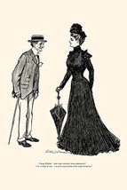 How Long Should I wear Mourning by Charles Dana Gibson - Art Print - $19.99+