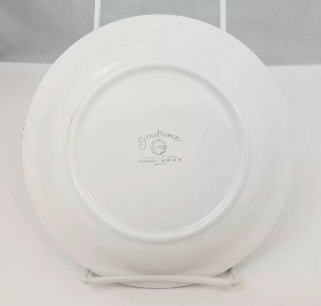 """Nikko Gradiance Bread Plate Set of 4 Azure Leafette Dish Microwave Safe 7.5"""" image 3"""