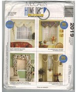 McCalls Uncut Sewing Pattern #2019 Home Decor Curtains Draperies Valance... - $7.50